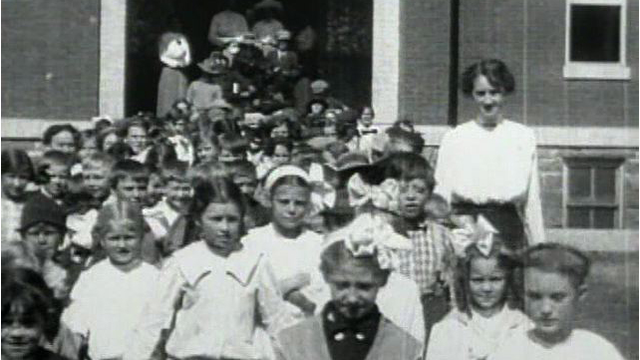 Grade School Students at Spearfish Normal School - 1913