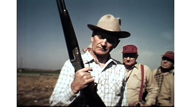 Joe Foss talks gun safety on a 1960 Miner County hunt.
