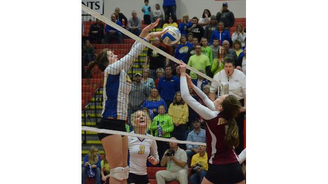 Girls volleyball player