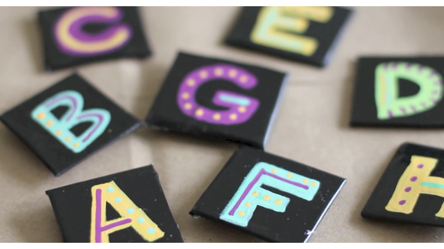 Duct Tape Alphabet Magnets