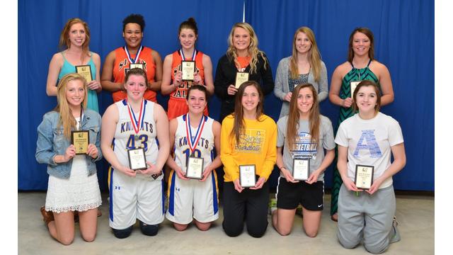 Girl basketball award winners