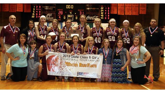 2015 Ethan Rustlers girls basketball