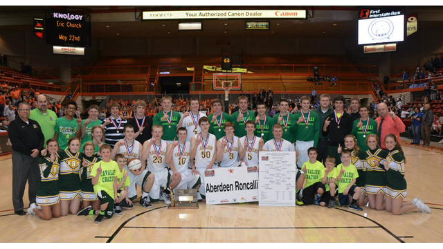2015 Boys Basketball Champions, the Aberdeen Roncalli Cavaliers