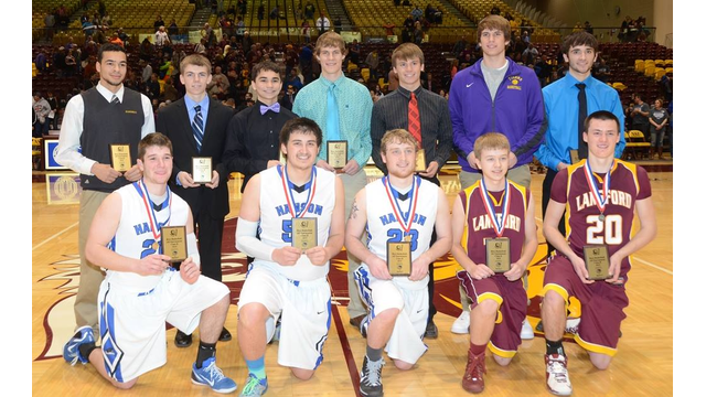 Class B award winners boys basketball