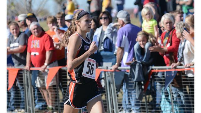 Girl cross country runner