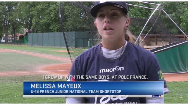 Melissa Mayeux, Baseball player