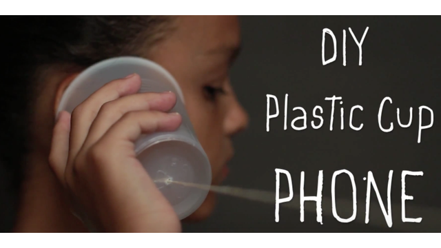 Plastic cup phone
