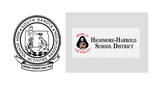 Highmore- Harrold School District and SDHSAA logo