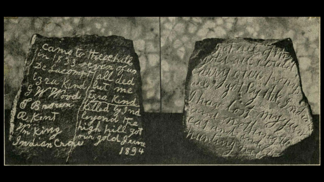 Etched stone tablet