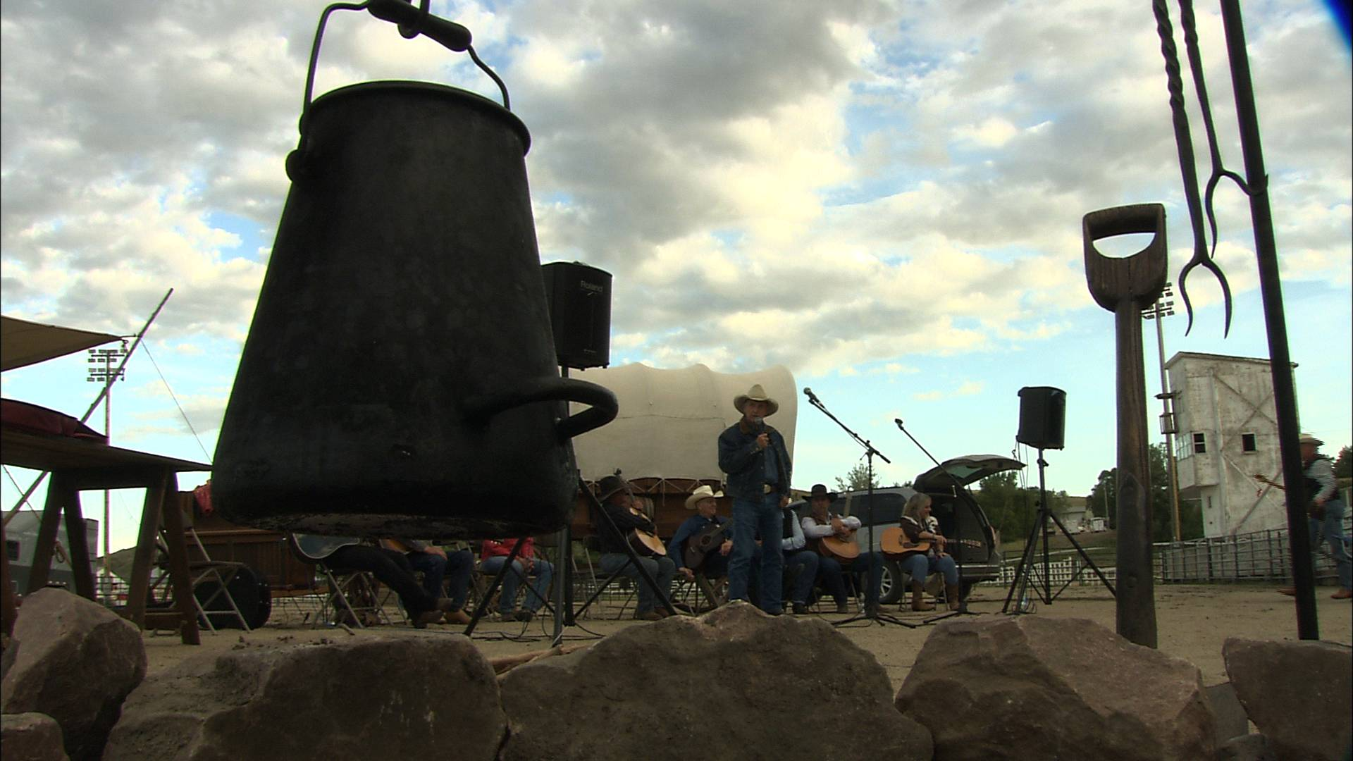 Cowboy poetry at the Western Heritage Festival in Fort Pierre