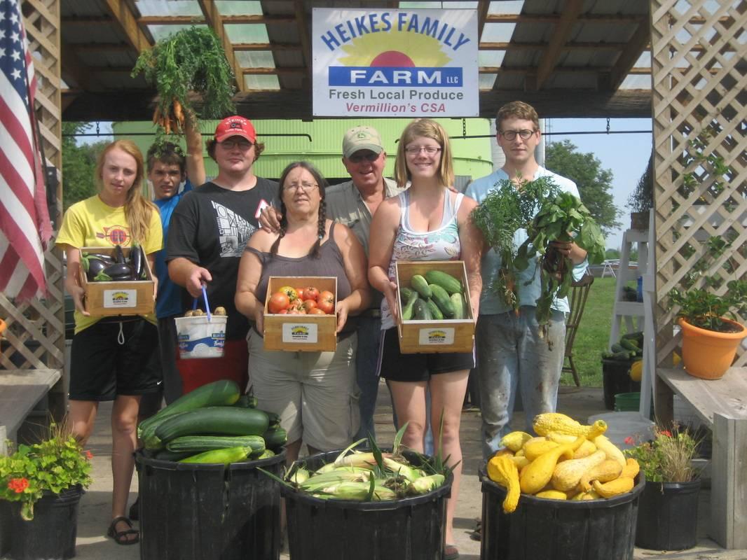 A sampling of the fresh, local produce grown on Heikes Family Farm