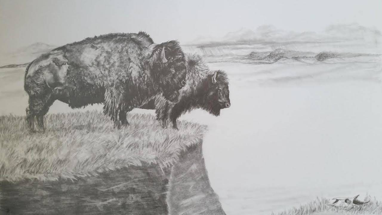 Bison on the Brink by Ray Kelly