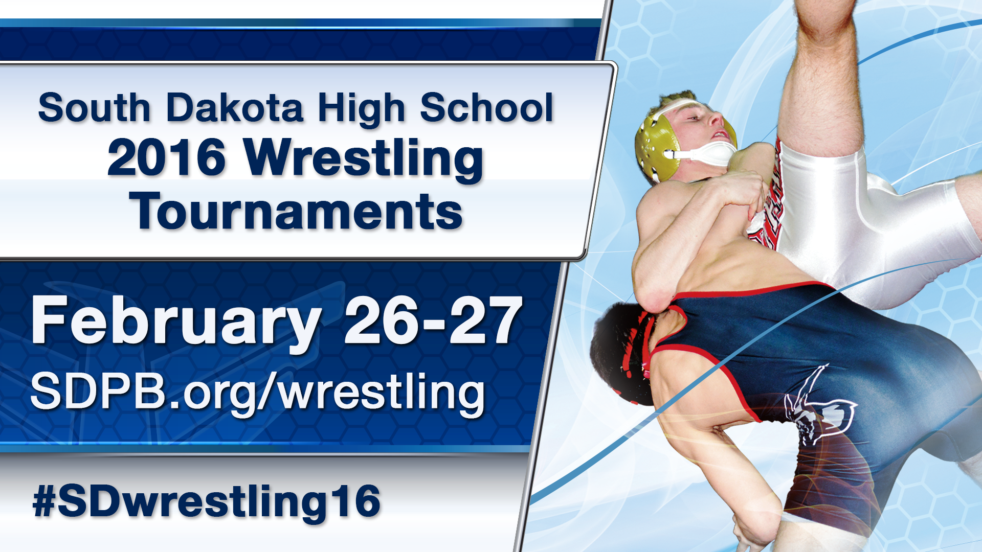 SD high school wrestling graphic