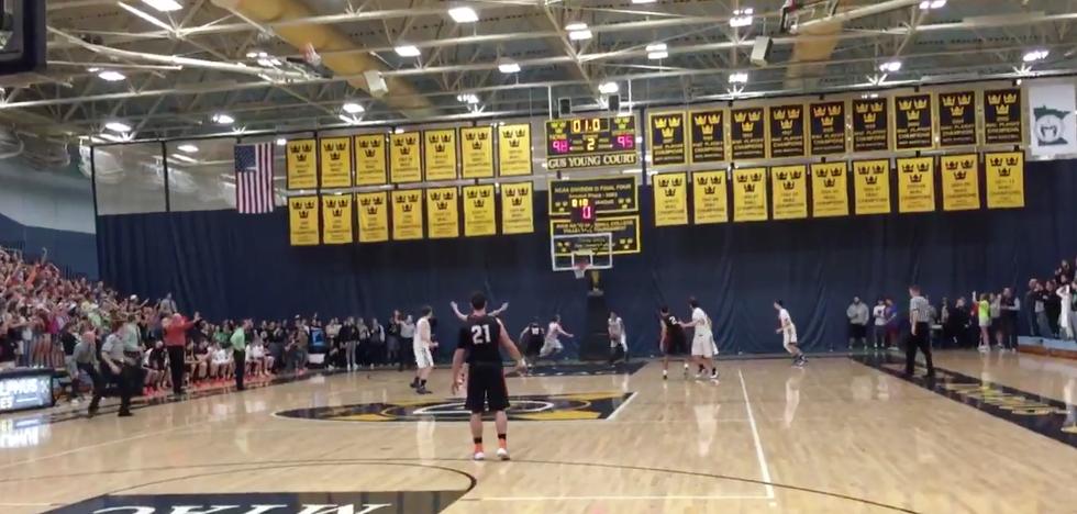 high school basketball court