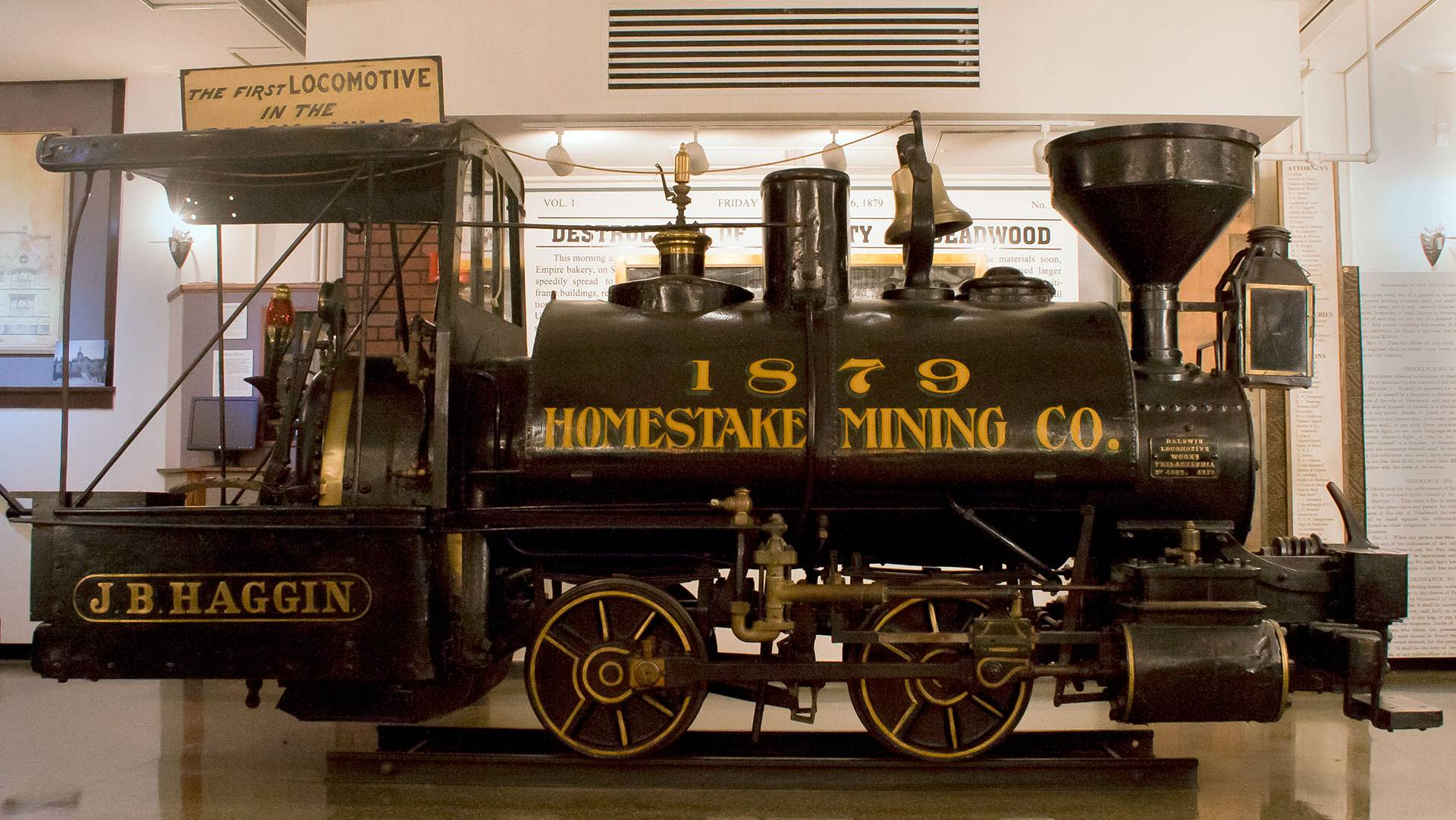 "The five-ton ""J.B. Haggin"" locomotive"