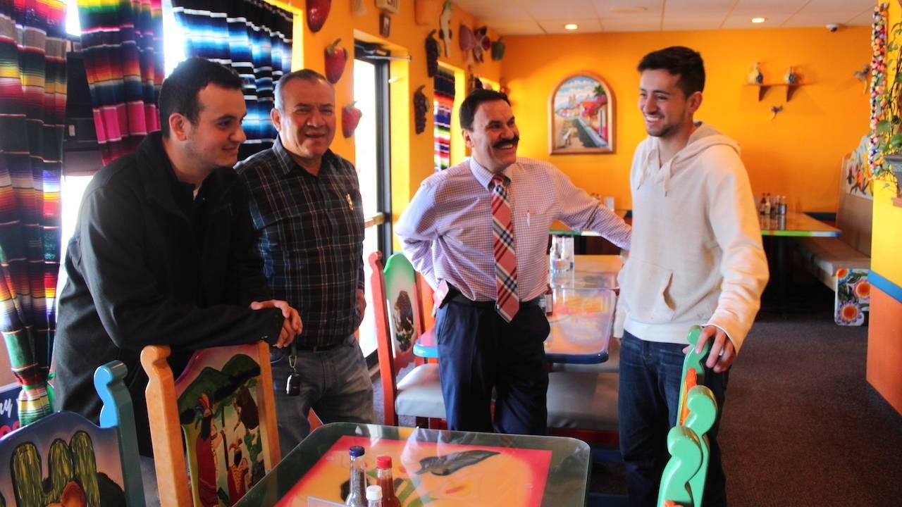 L to R: Carlos Jr., Carlos, Pepe and Donny Vega