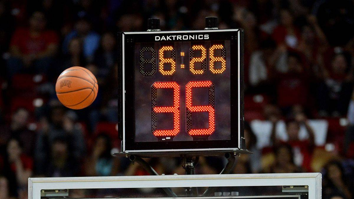 Photo of a shot clock