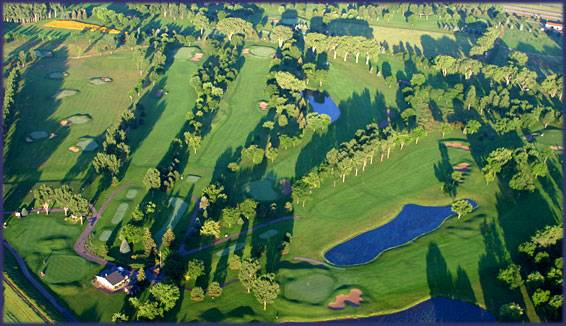 sky view of a golf course
