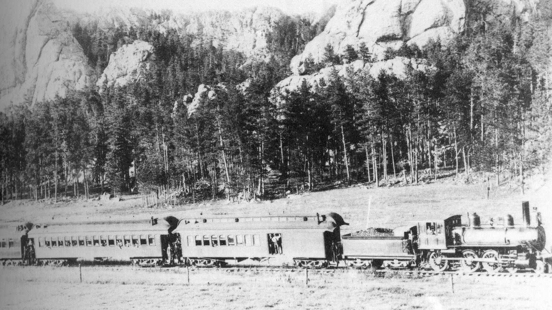 Train in the Black Hills