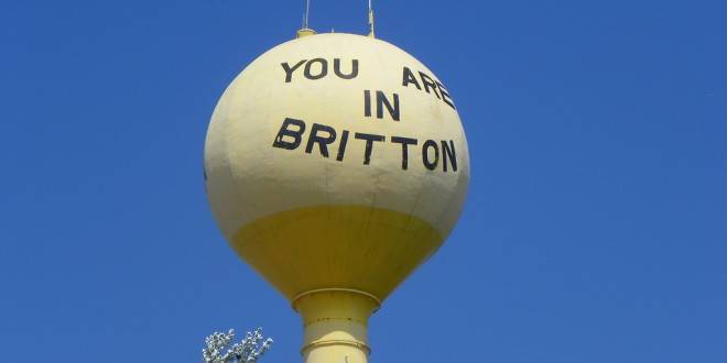 Britton watertower