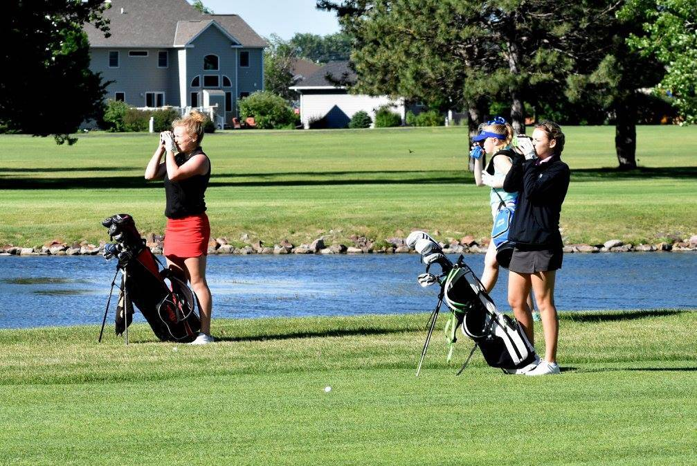 Girls high school golfers