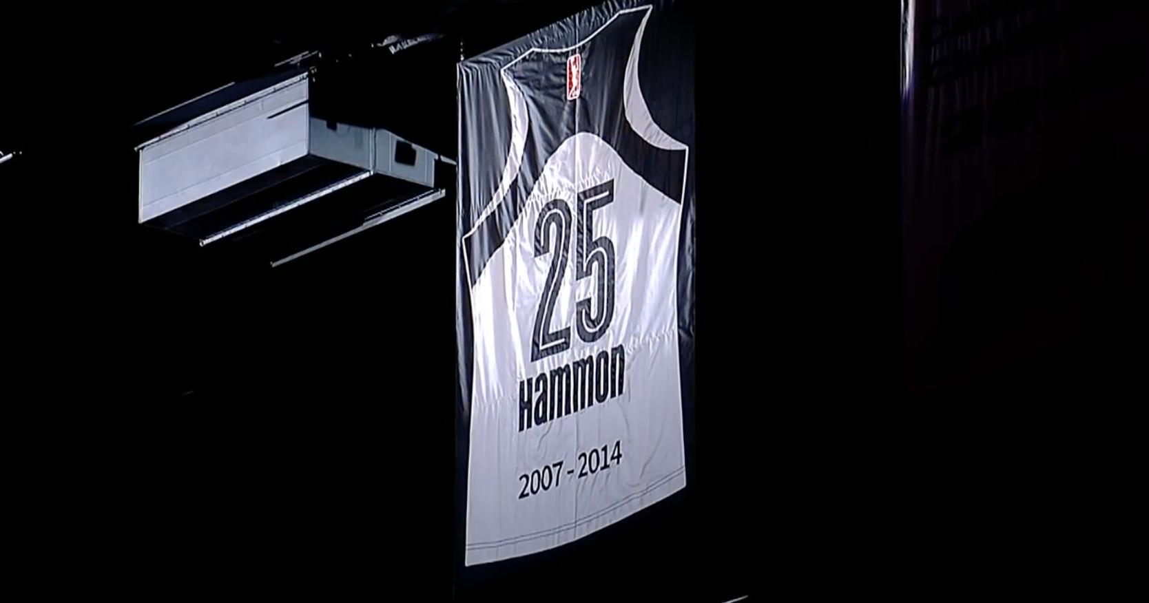Becky Hammon's retired jersey