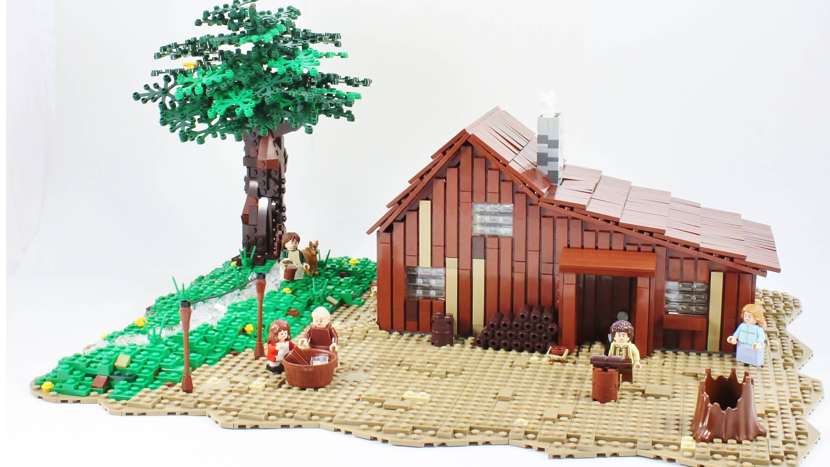 The Little House on the Prairie Lego set prototype.