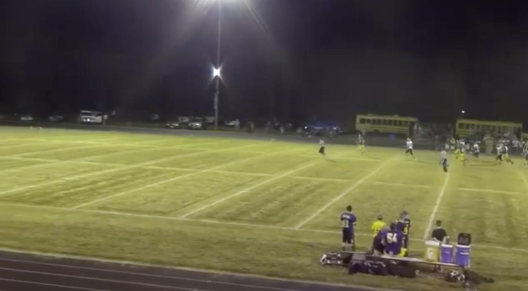 Centerville senior James Brown breaks free for an 82-yard touchdown