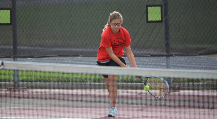 Girls tennis player