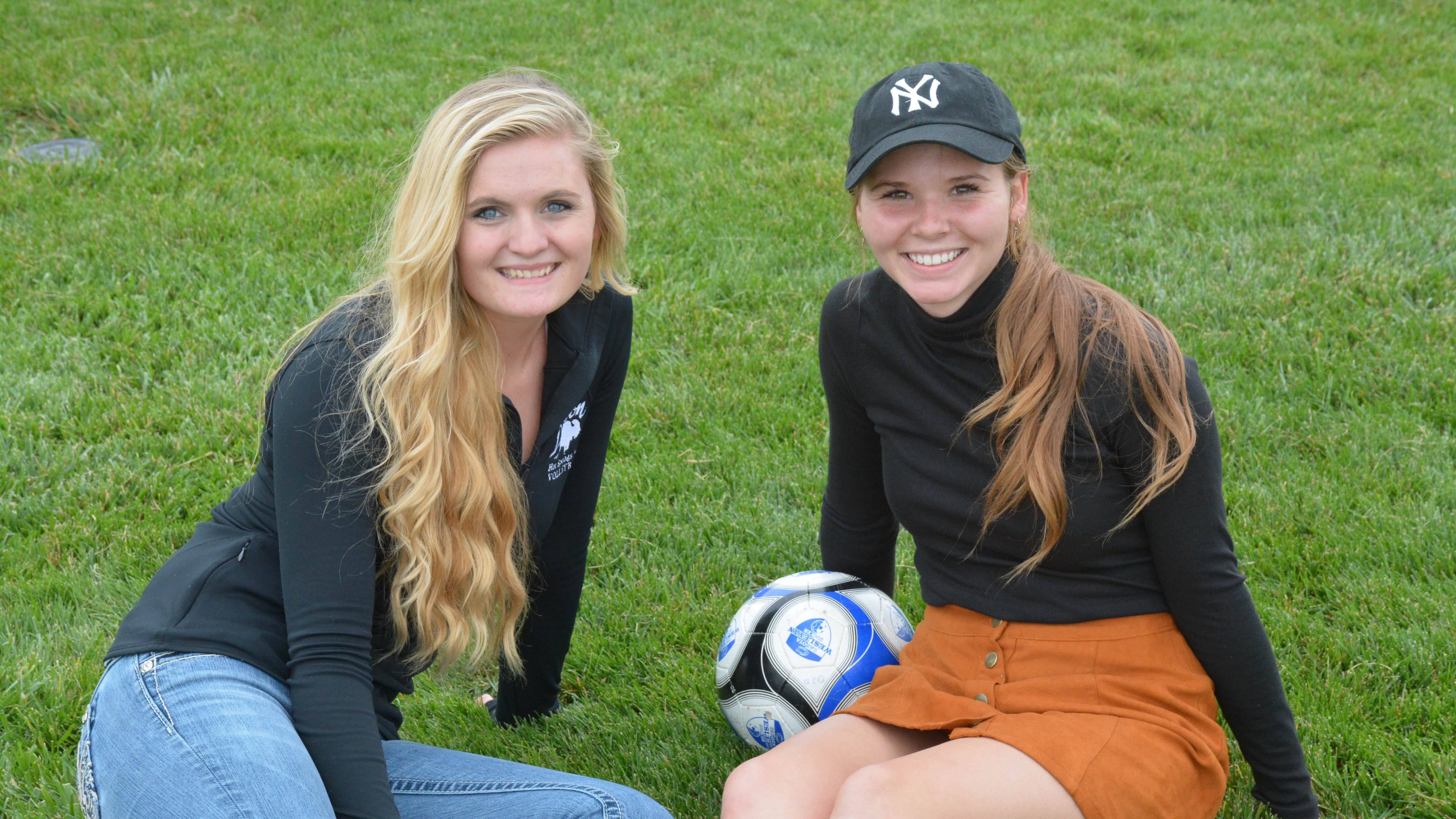 Diamond Miller and Aspen Stover, soccer players