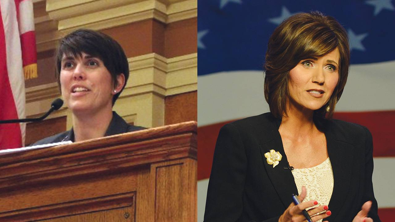 Paula Hawks and Kristi Noem