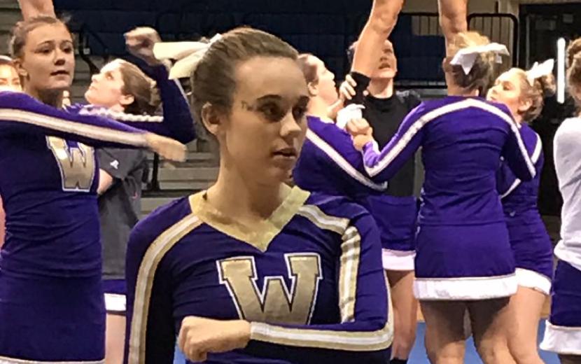 Winner cheerleader