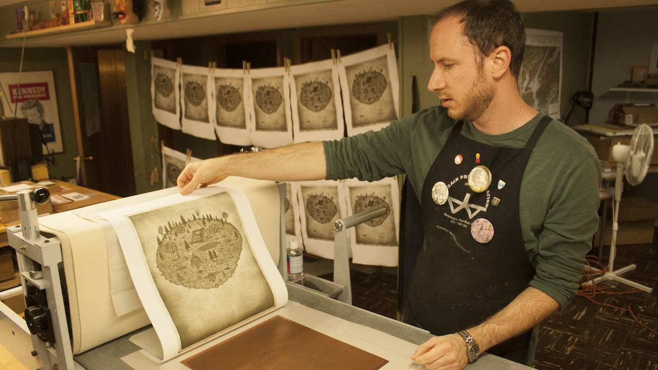 Printmaker Andrew Kosten