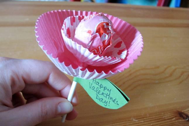 DIY Valentine lollipop
