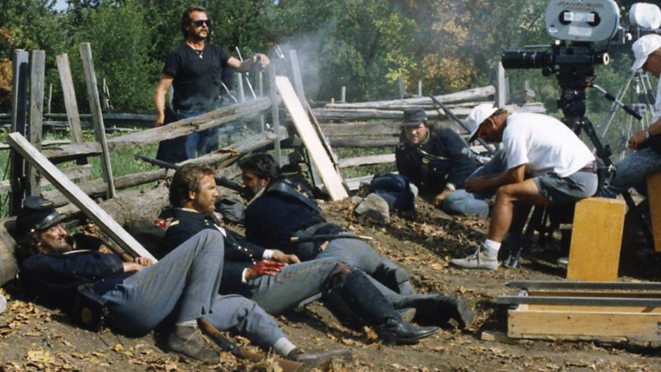Dances with Wolves on set, 1990.