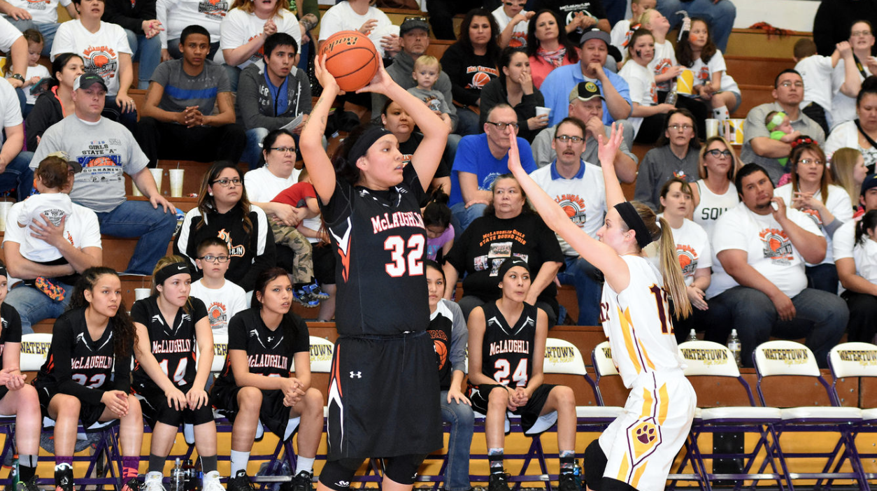 High school girls basketball players