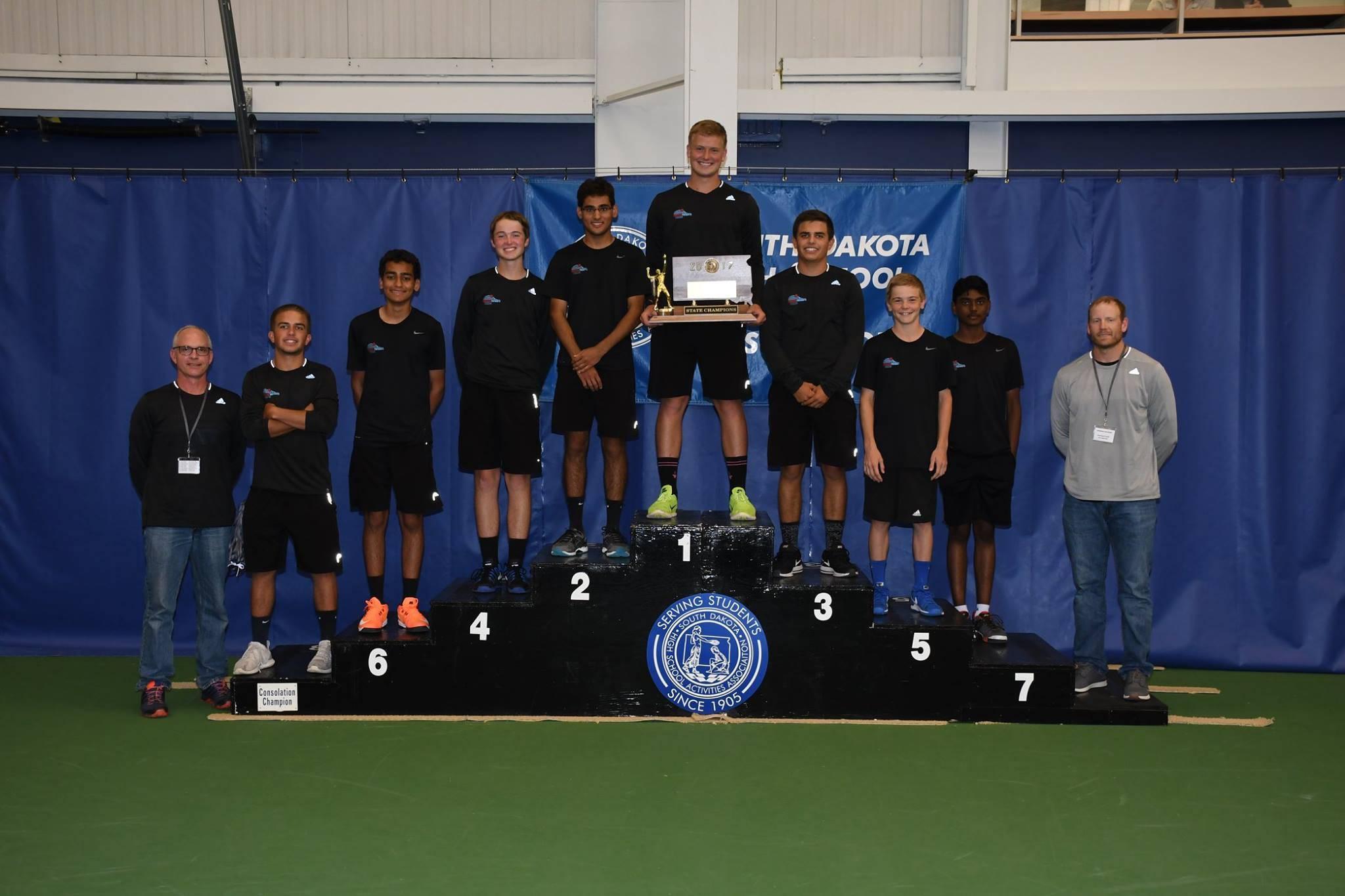Sioux Falls Lincoln boys tennis team