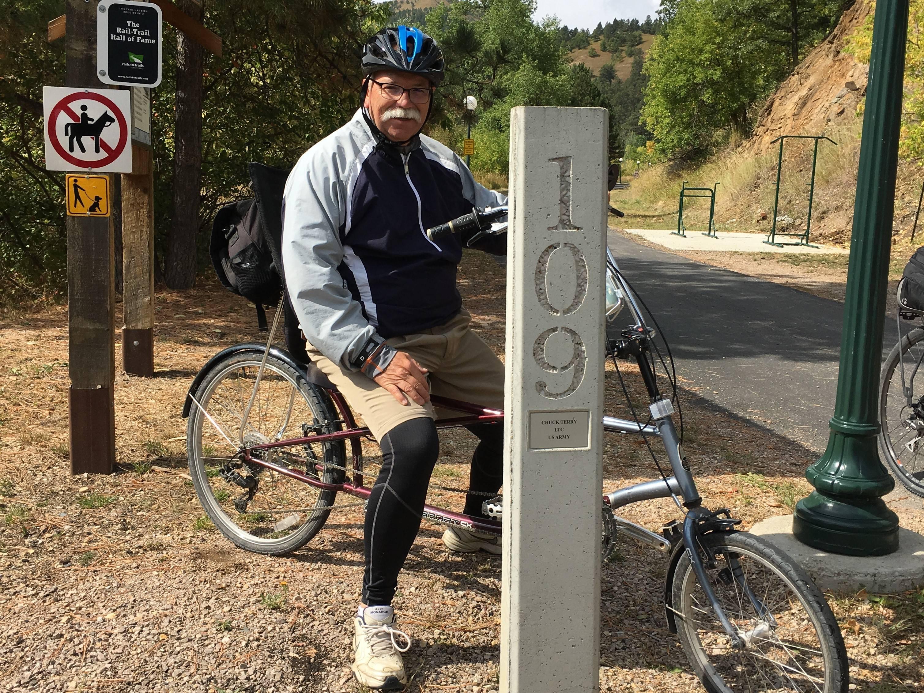 Mile marker 109 in Deadwood.