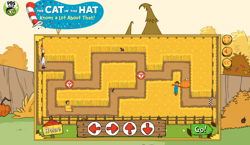 The cat in the hat maze