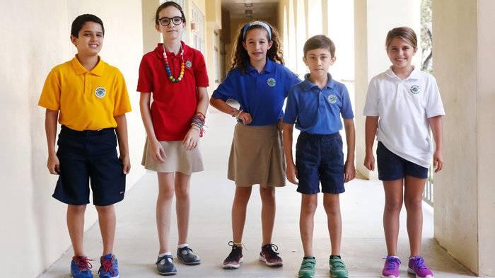 Sunset Elementary students