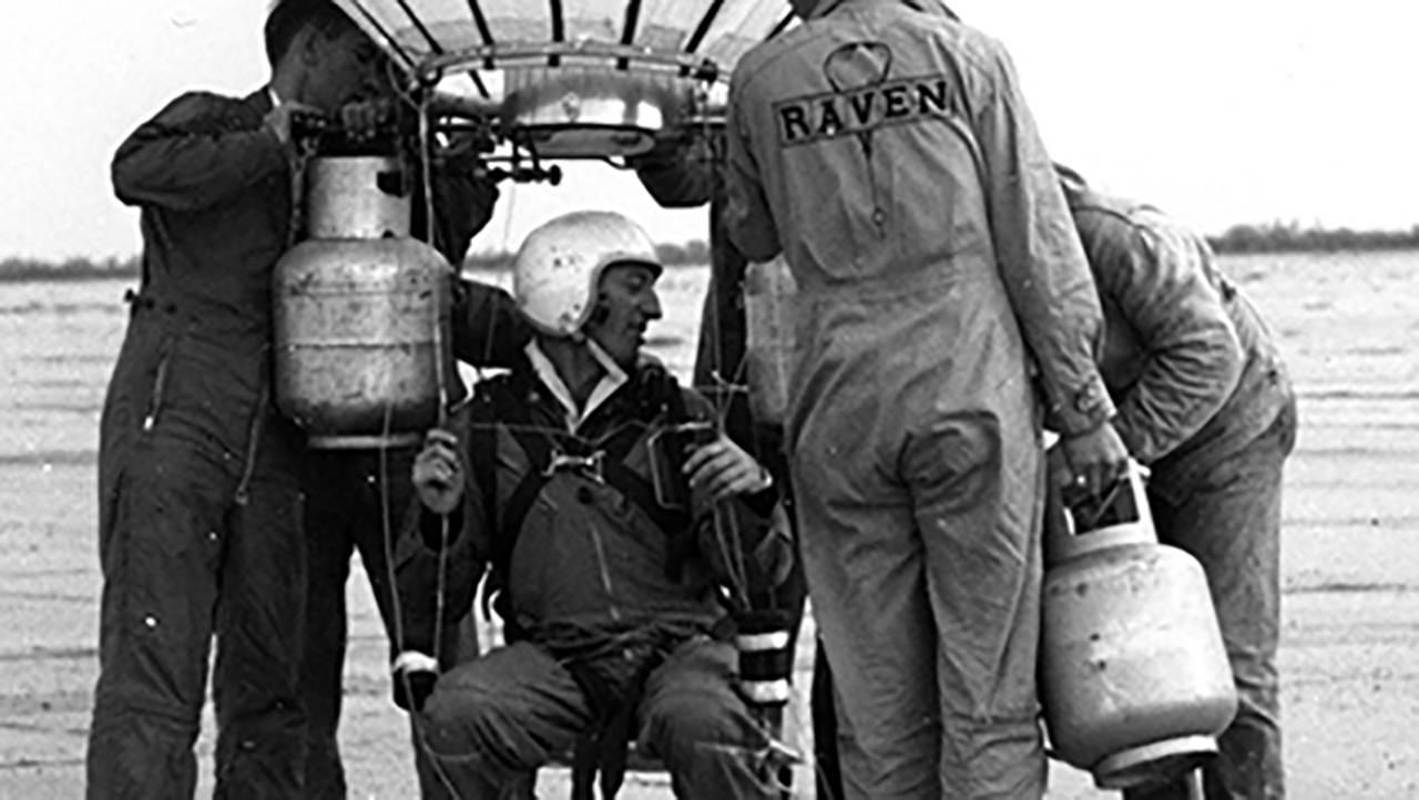 "Pilot Ed Yost Aboard ""Raven 1"""