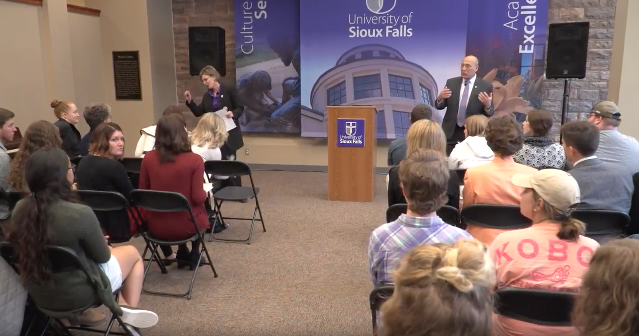 Presentation at the University of Sioux Falls