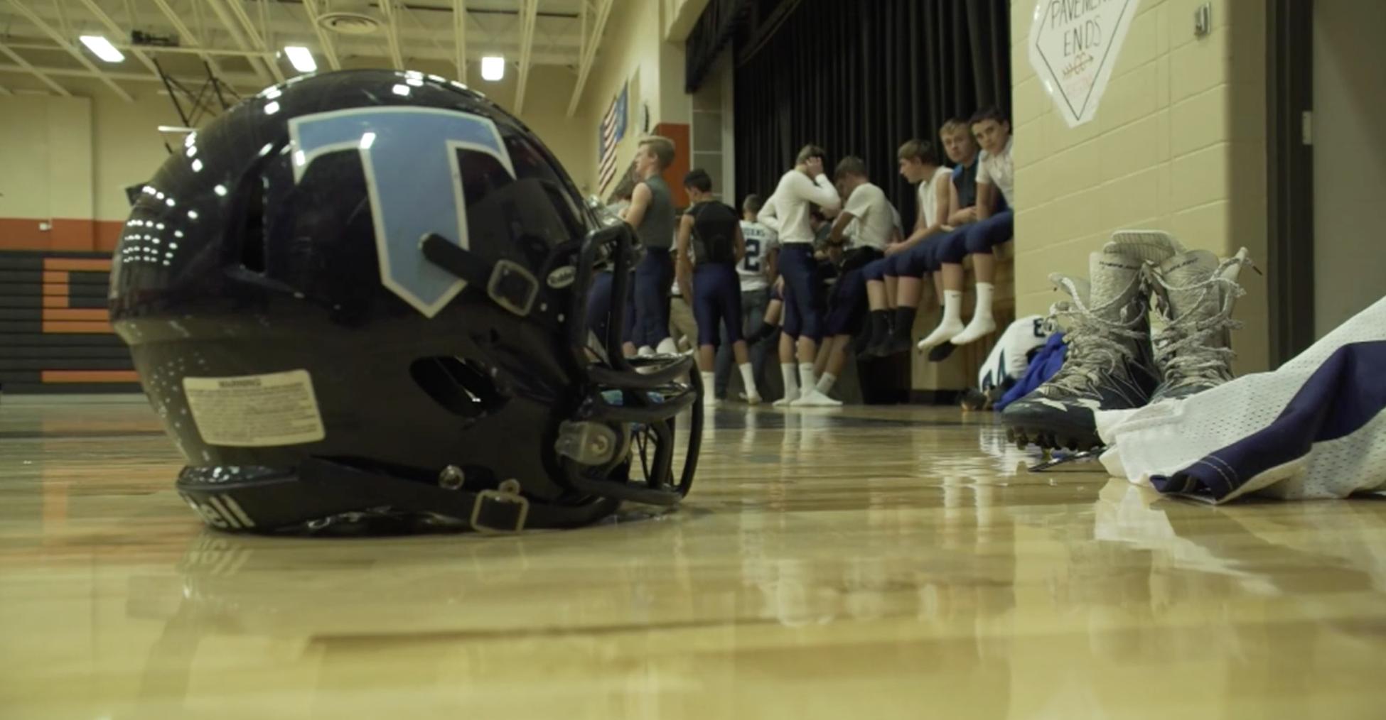 Photo of Titan football helmet