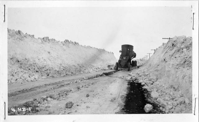 Snow removal over the last 128 years