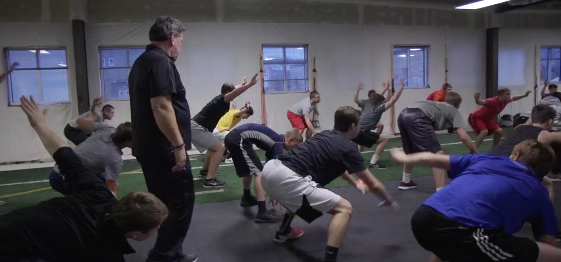 Athletes working out at the Performance Training Academy