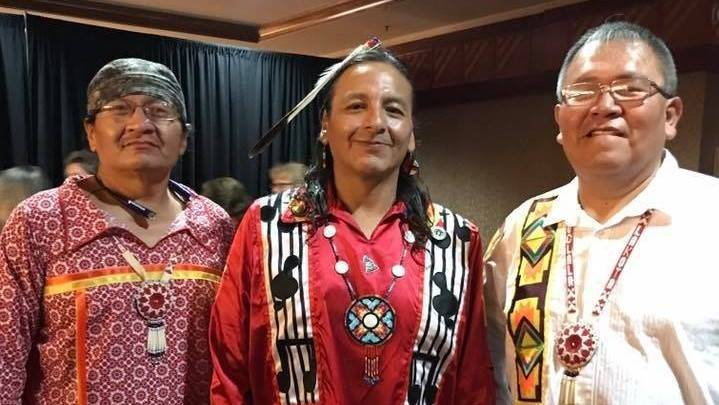 Black Bear Brothers w/ Leroy Whitstone (c) of Northern Cree Singers