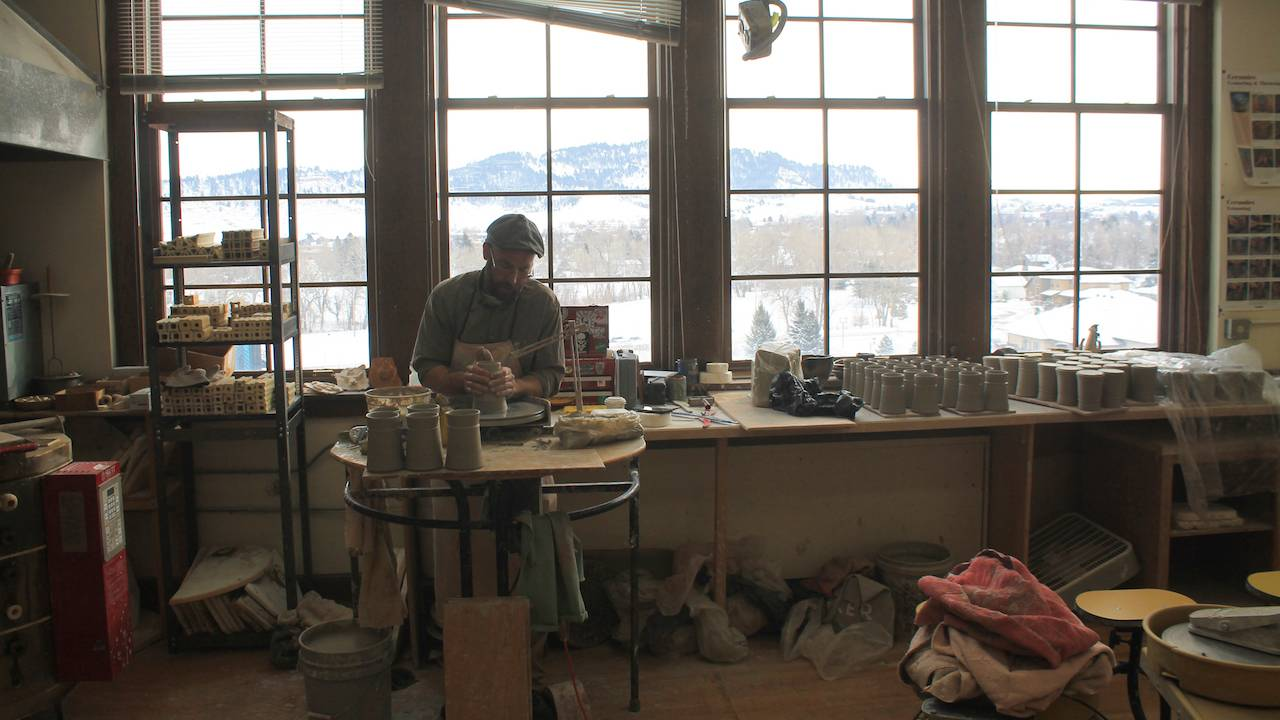 Spearfish ceramic artist Clay Dykstra brings natural-world inspiration to his potter's wheel.