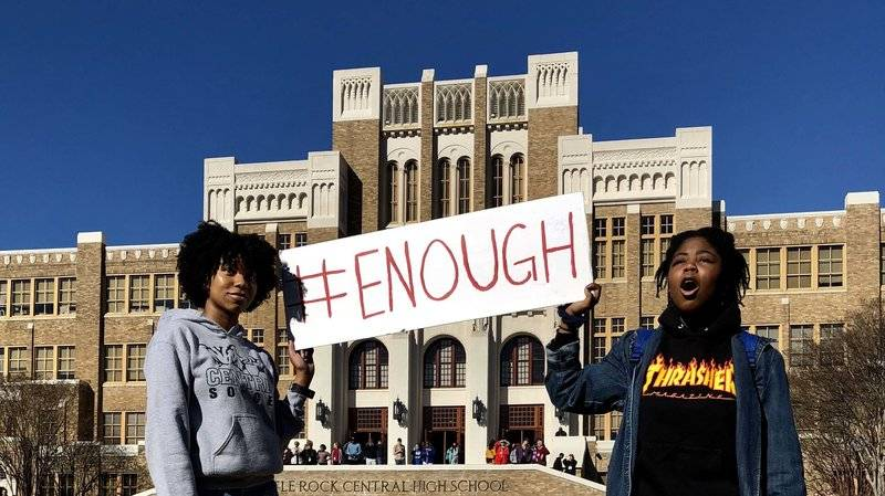 protesters for #enough