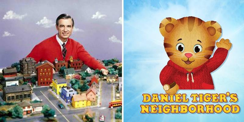 Mr. Rogers neighborhood and Daniel Tiger's Neighborhood