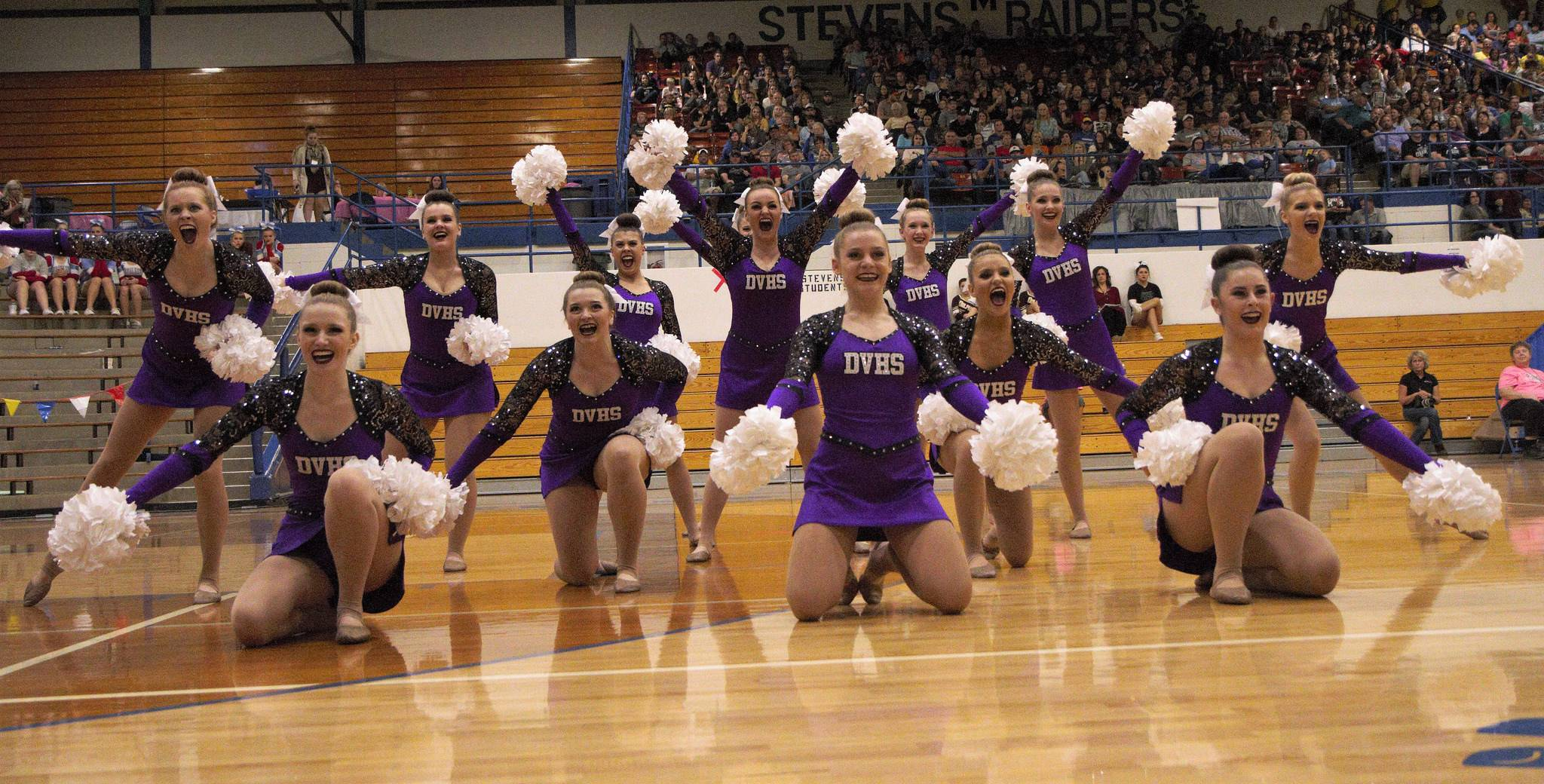Dakota Valley cheer team